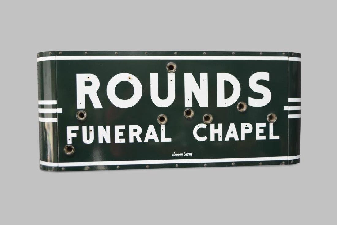 Rounds Funeral Chapel Sign