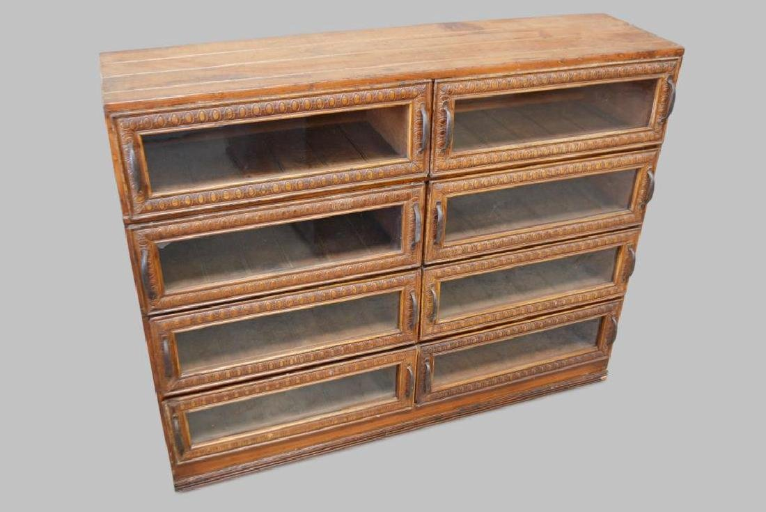 """General Store Millinery Cabinet 39 1/2""""H,   50""""L,   14"""