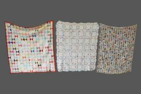 """3pc.  Lot of Quilts 74""""  x   80""""     /      79""""  x"""