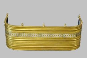 French Brass Fireplace Fender