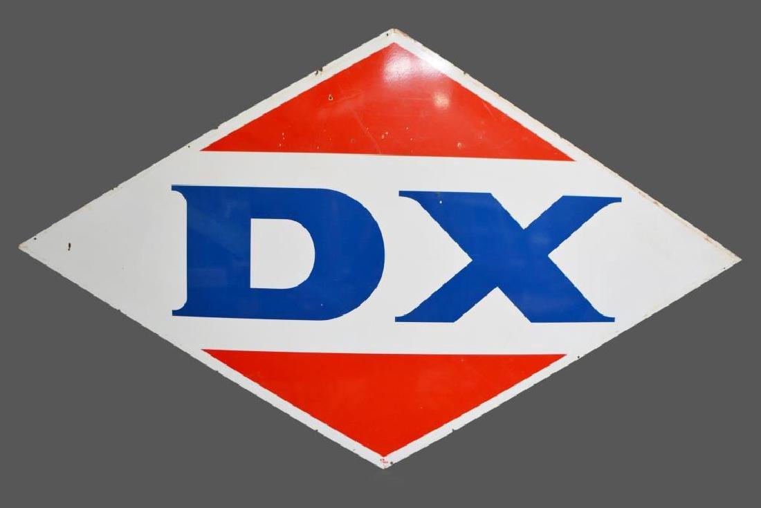 """DX Dealer Sign porcelain 68""""  x   117 3/4"""""""
