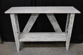 """Painted Garden Console Table 37""""H,   53""""  x   16"""""""
