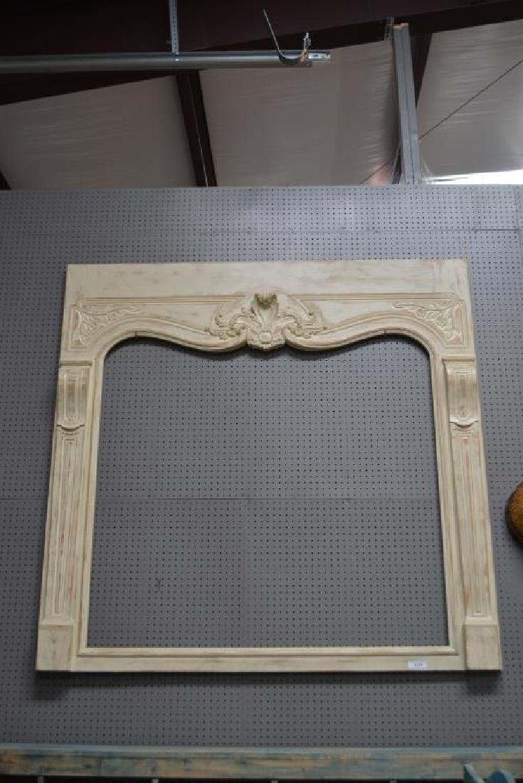 Painted French Architectural Mirror