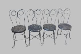 """4-Piece Soda Fountain Chair Lot 34""""H,   16""""  x   19"""""""