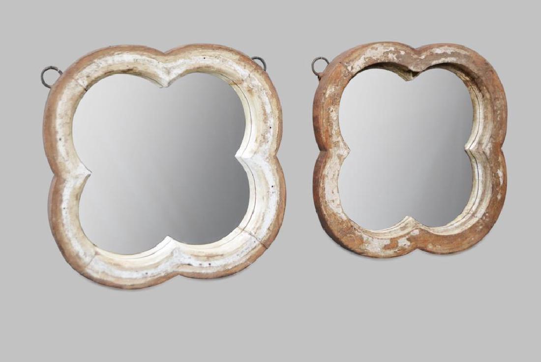 Architectural Clover Leaf Mirror