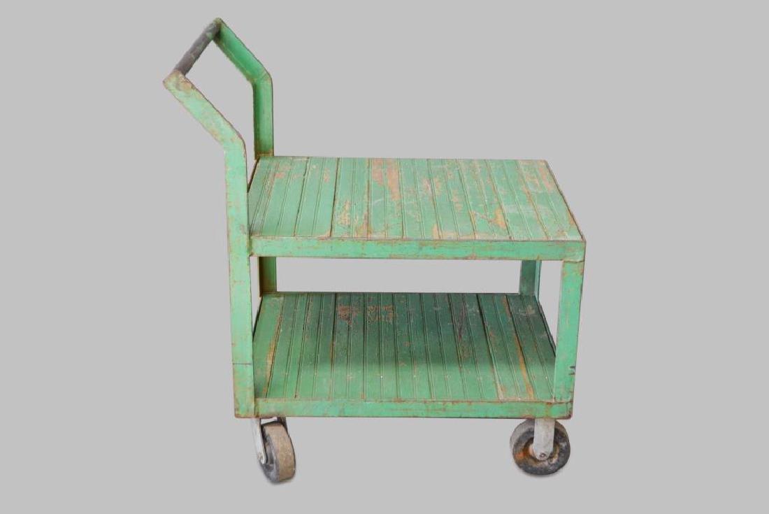 "Green Warehouse Cart 41 1/2""H,   43""L,   26""W"