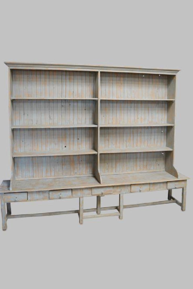 """2pc. Painted General Store Display 123 1/2""""H,   156"""