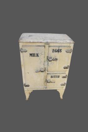 "Painted Metal Ice Box 40 1/2""H,   27""  x   16"""