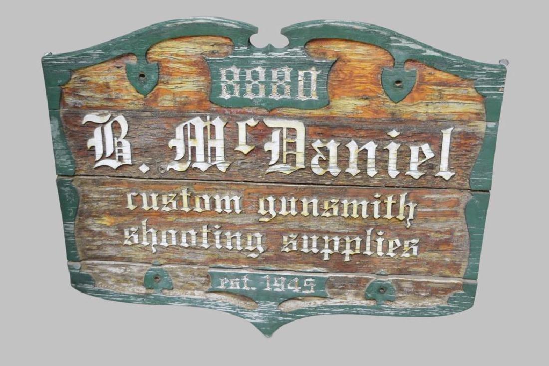 """Gunsmith Sign    -   wooden 38""""  x   48"""""""