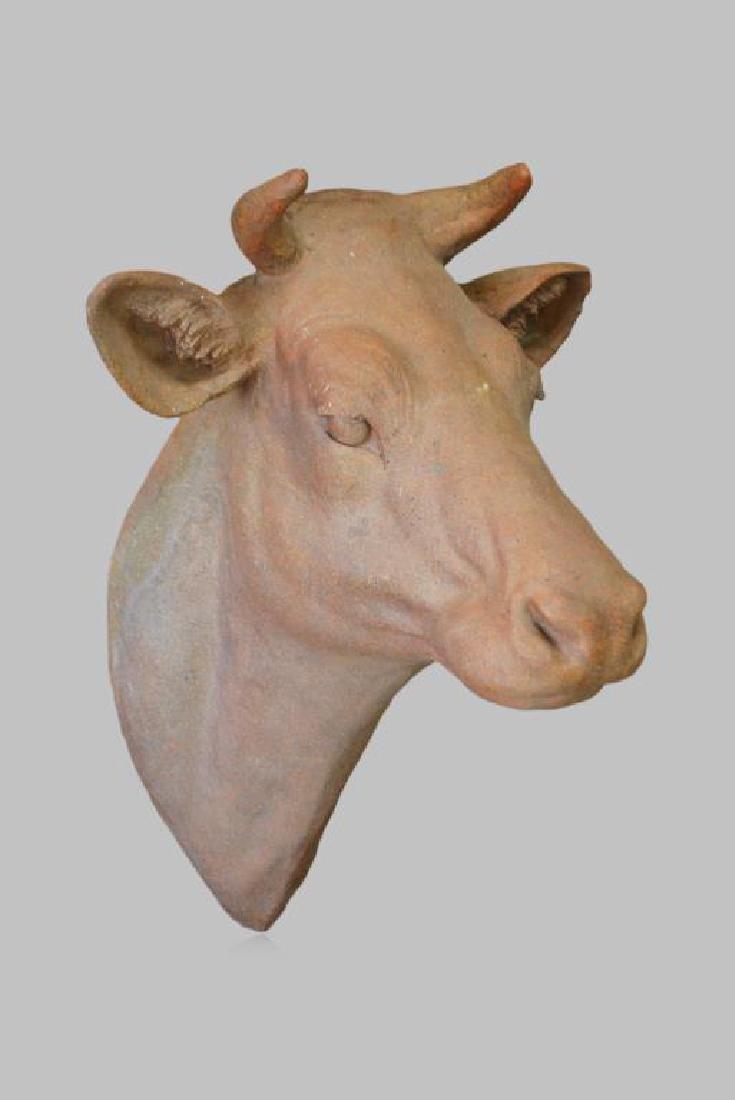 """Cow Head 35""""H,   25""""  x   26 1/2"""""""
