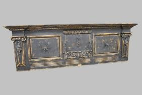 """French Painted Carved Hotel Lobby Coat Rack 32""""H,   94"""