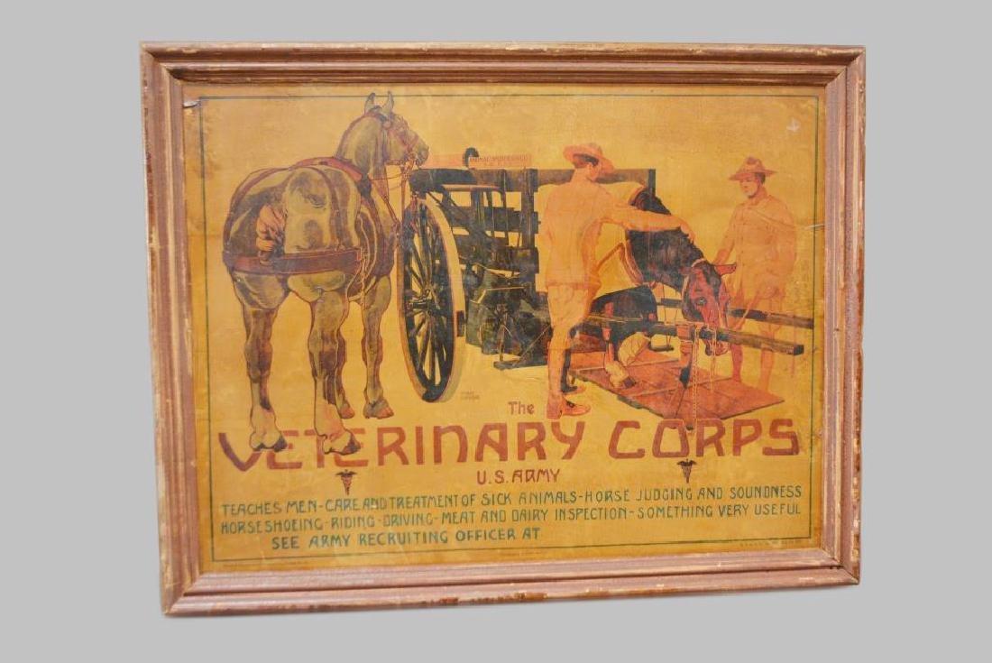 "Veterinary Corps Framed Poster 28 1/2""  x   36"""