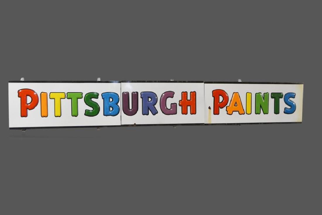 "Pittsburgh Paints Sign porcelain 22 1/2""  x   150 1/2"""