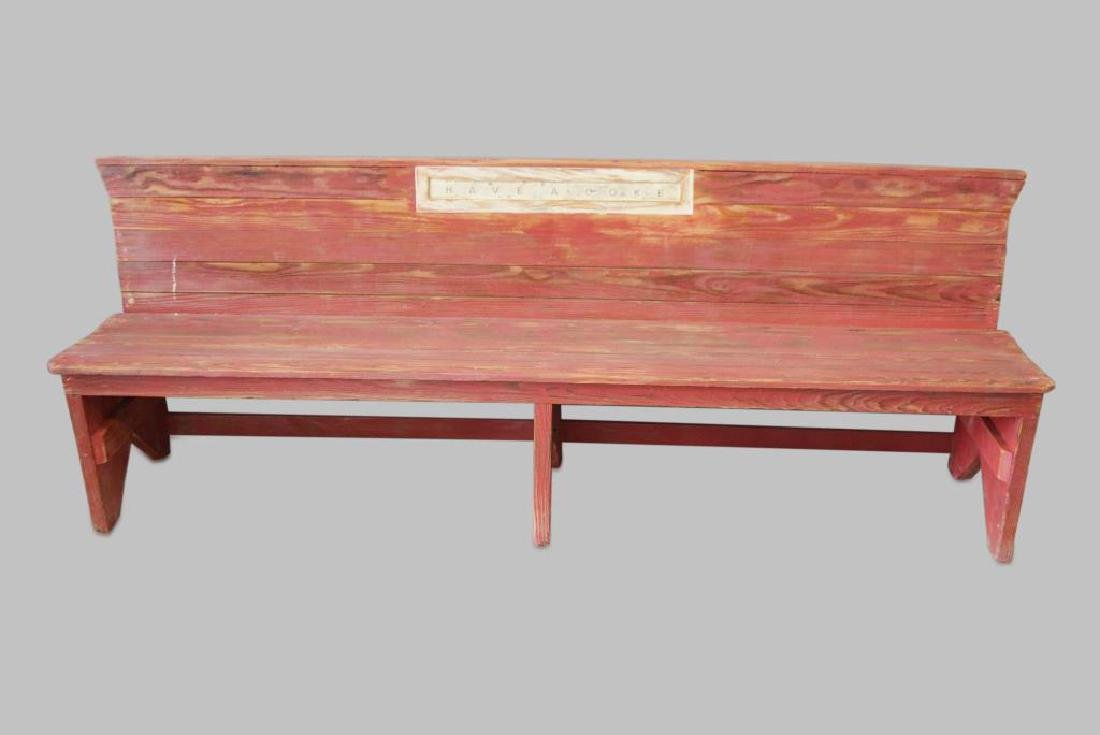 """Country Store Bench 34""""H,   92 1/2""""L,   20""""W"""