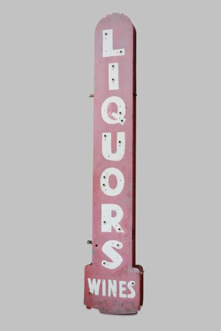 LIQUORS Sign metal,  double