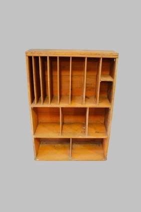 """Painted Cubby 51""""H,   36""""L,   14""""W"""