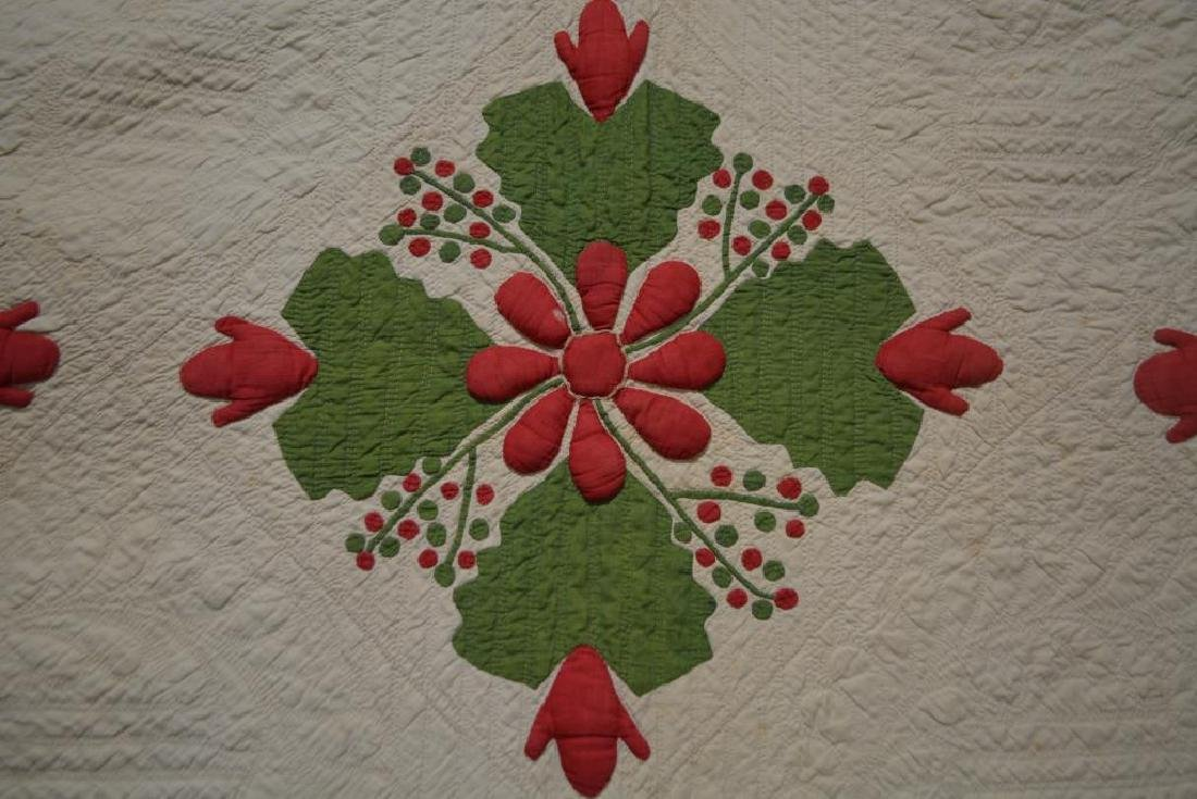 "Late 19th Cen. Pa. Appliqued Quilt 82""  x   82"" - 2"