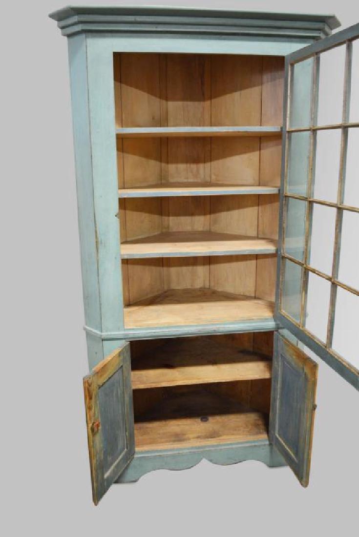 19th Cen. Pa. 12-Paned Corner Cupboard in Original - 2