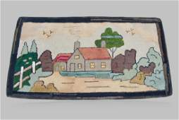 """Pa. Cottage Hooked Rug 28"""" x 52"""""""