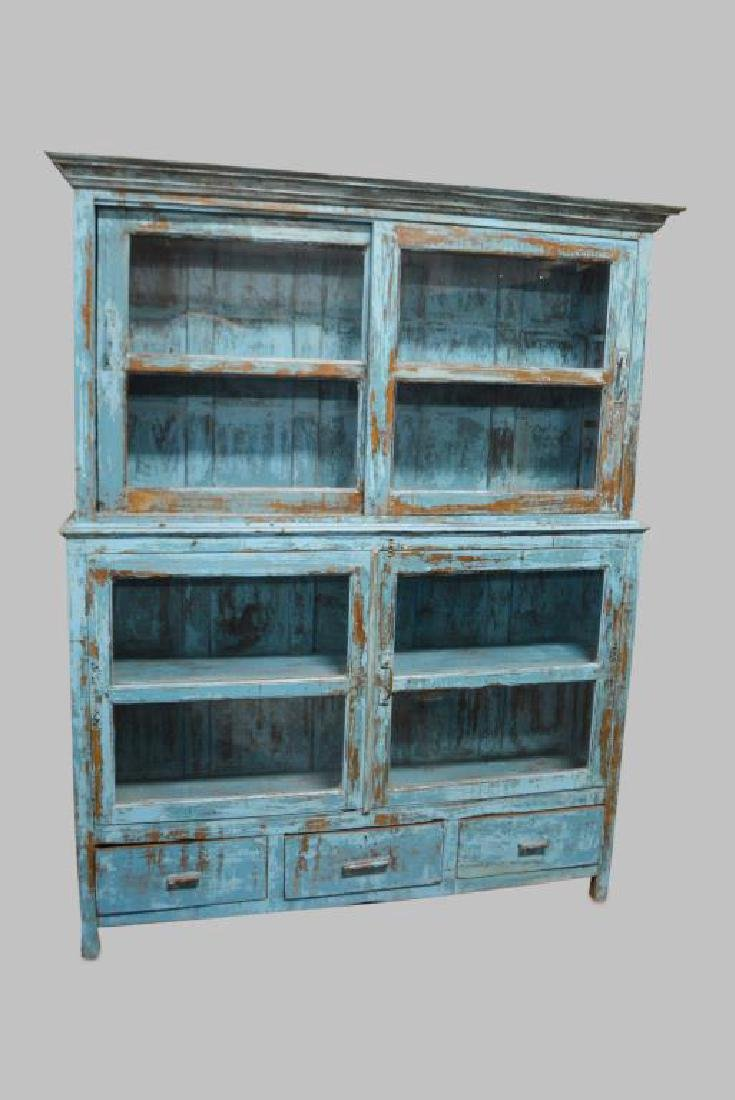 """2pc. Painted Store Display Cabinet 79 1/2""""H,   62"""