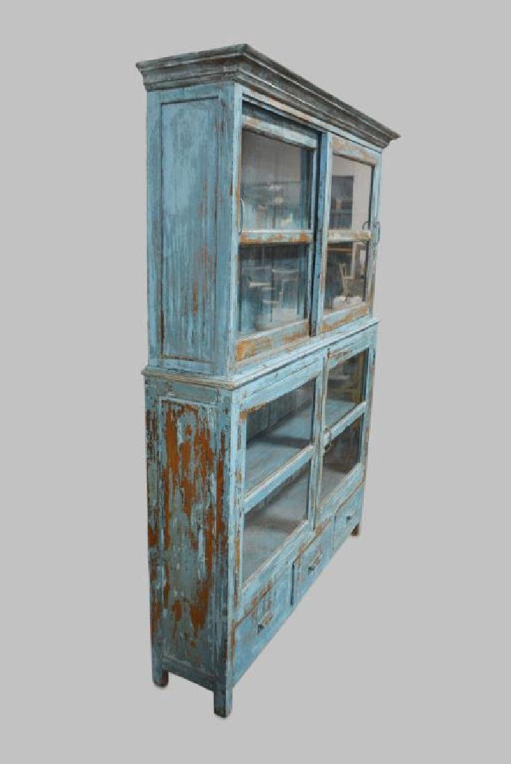 """2pc. Painted Store Display Cabinet 79 1/2""""H,   62 - 2"""