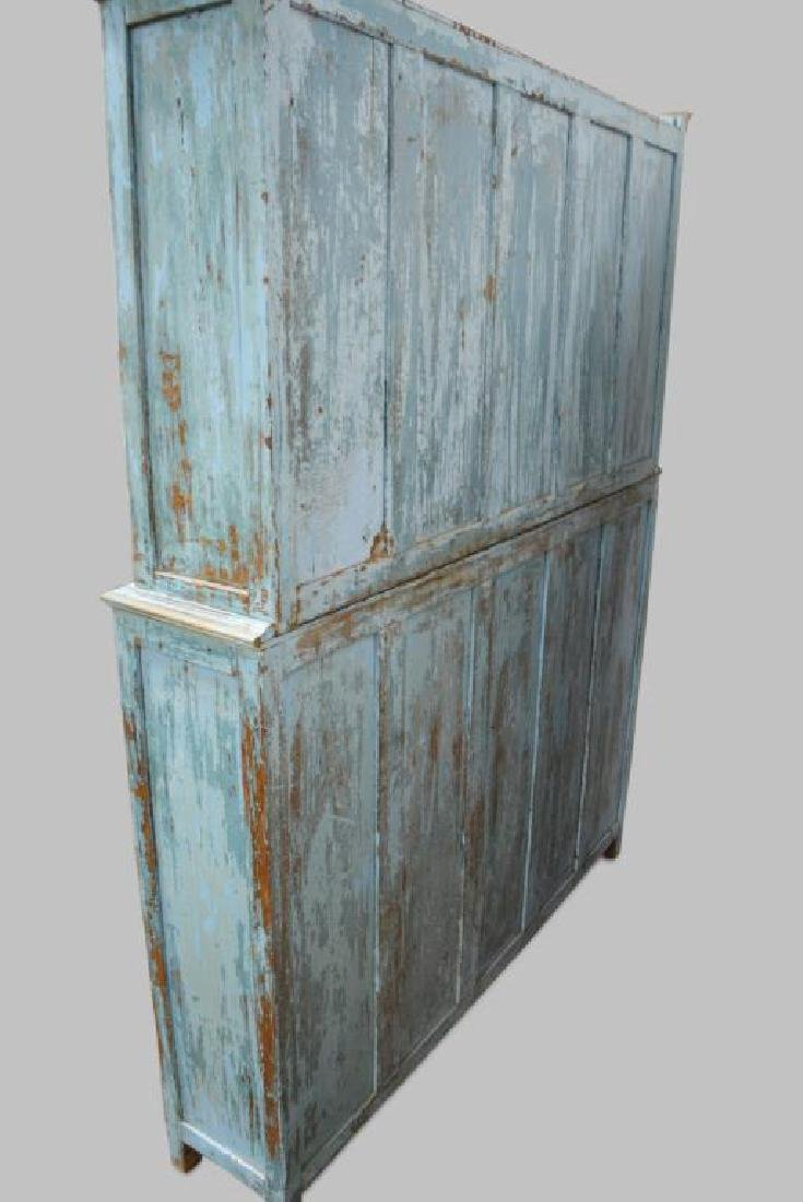 """2pc. Painted Store Display Cabinet 79 1/2""""H,   62 - 3"""