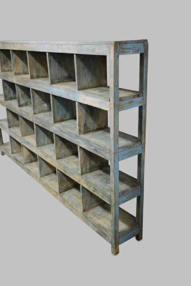 "Painted General Store Cubby Display 59 1/2""H,   95 - 2"
