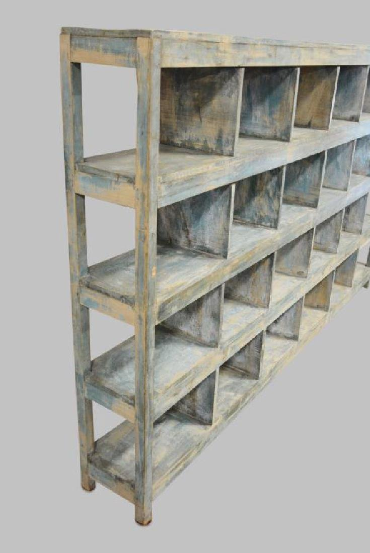 "Painted General Store Cubby Display 59 1/2""H,   95 - 3"