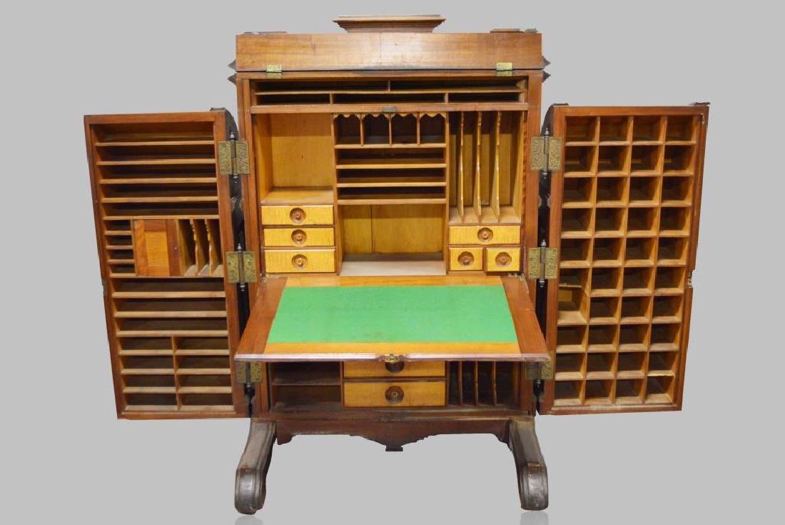 "Wooton 3 Hinge Secretary Desk 64""H,   42 1/2""  x   31"" - 4"
