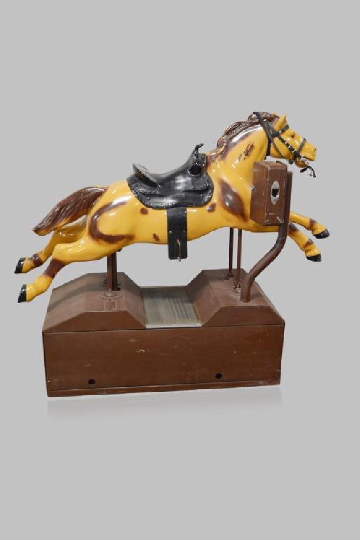 "Coin-Op Horse Ride 58""H,   71""L,   23 1/2""W"