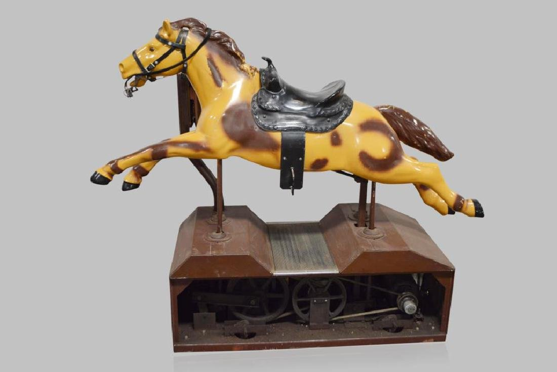 "Coin-Op Horse Ride 58""H,   71""L,   23 1/2""W - 2"