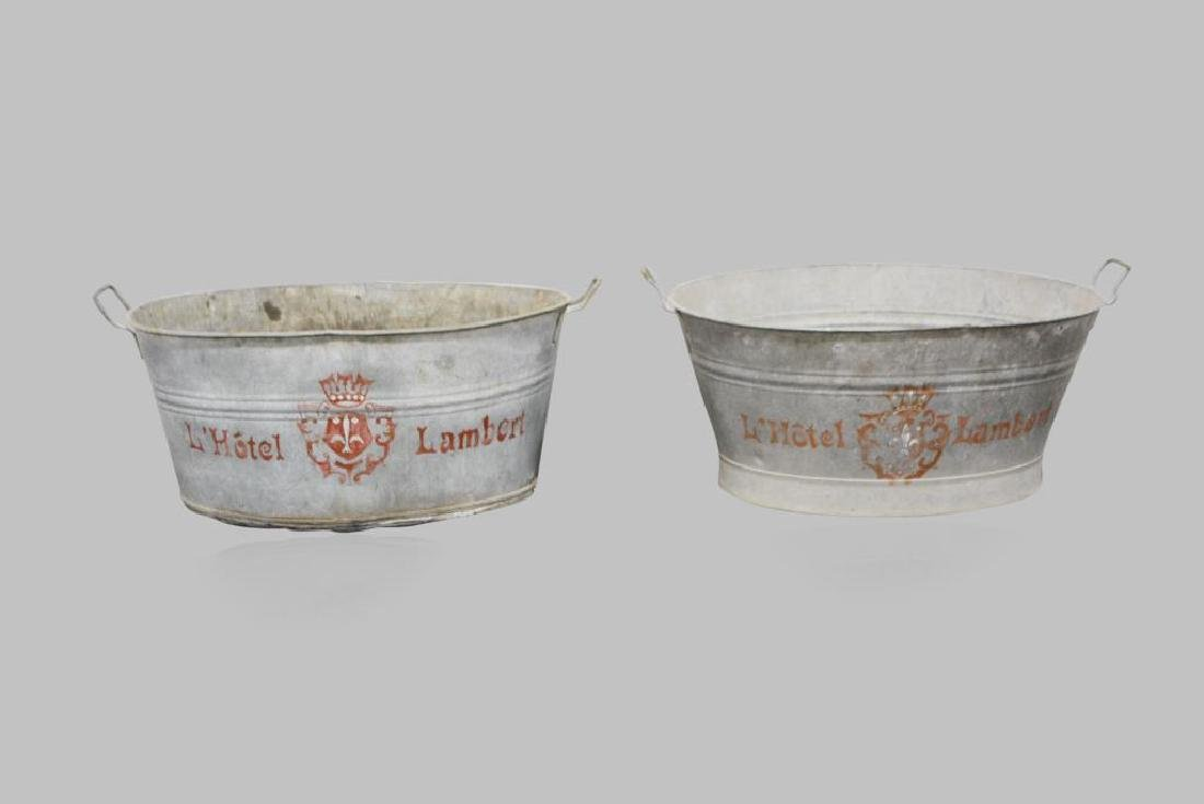 """Painted French Tub X-2 13""""H,   31 1/2""""L,   22""""W     ea."""