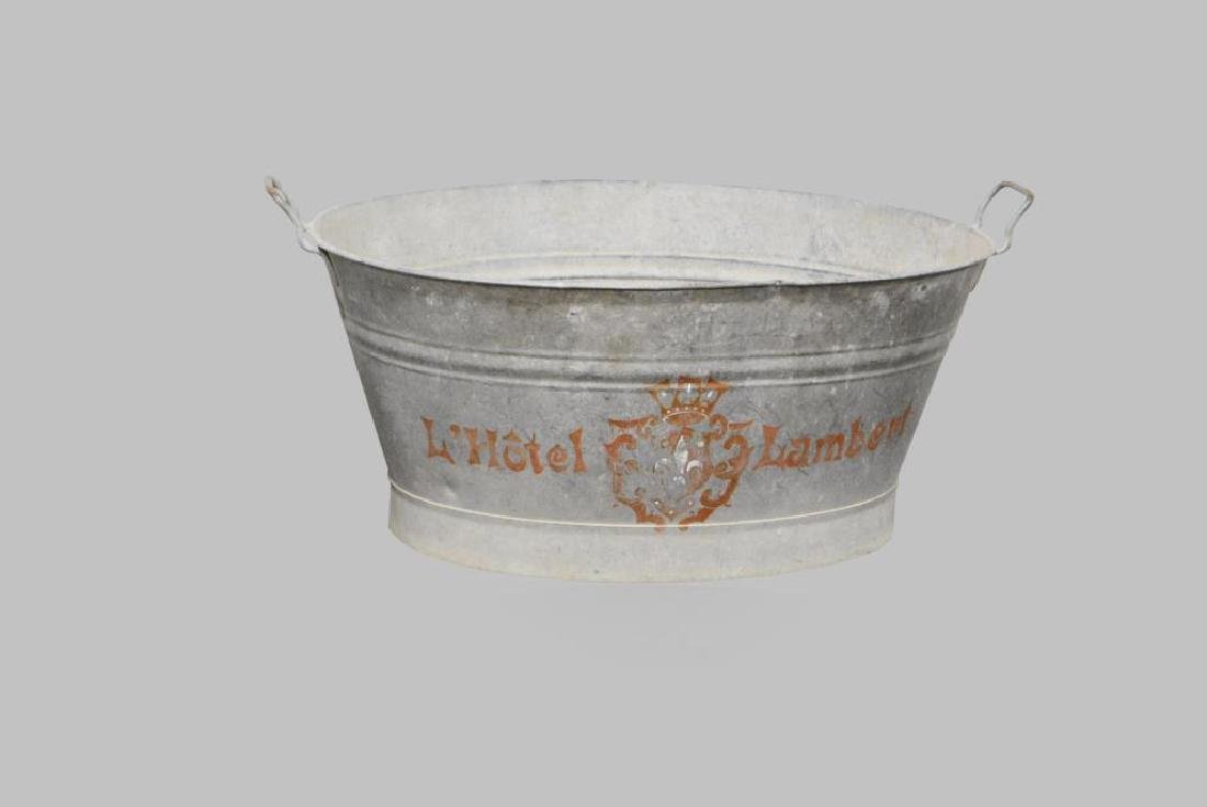 """Painted French Tub X-2 13""""H,   31 1/2""""L,   22""""W     ea. - 3"""