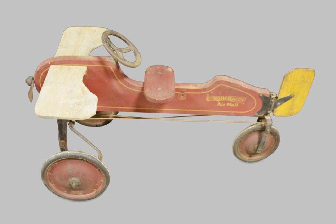 Child's Wooden Airplane Pedal Car - 2