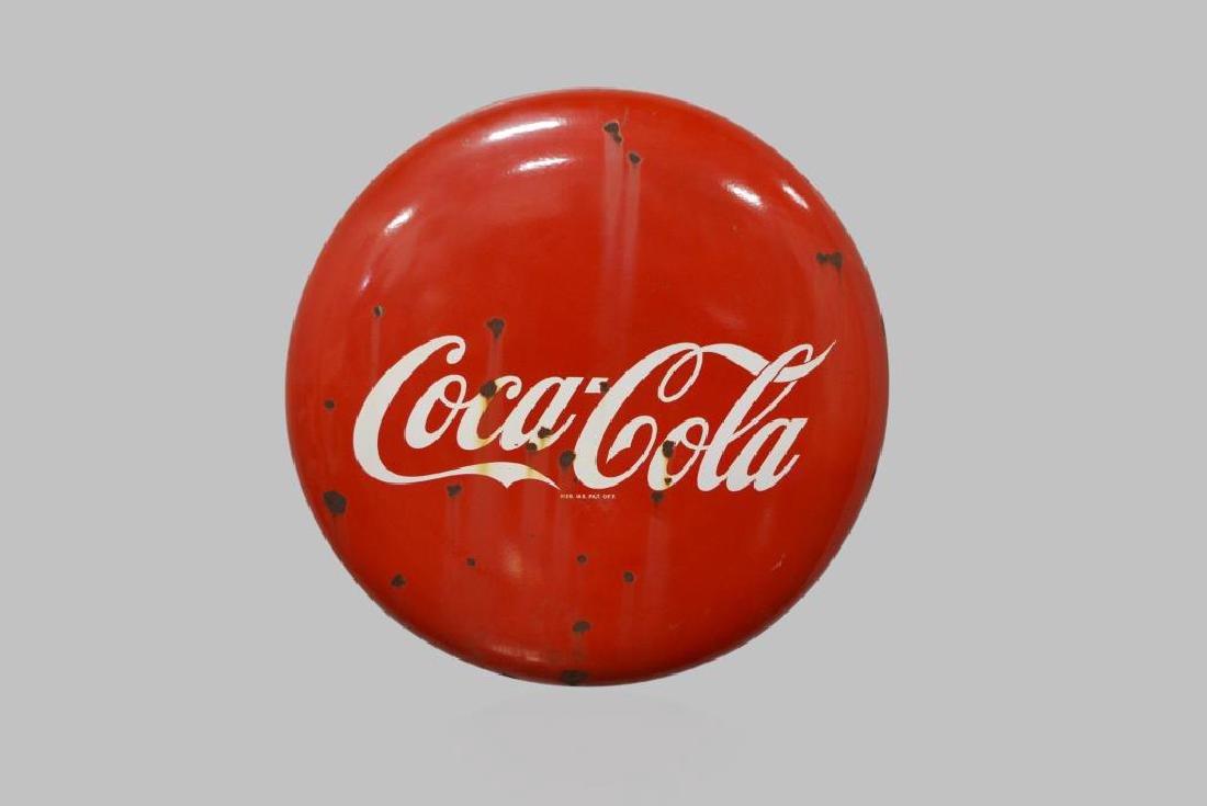 """Coca-Cola Button 36"""" diam."""