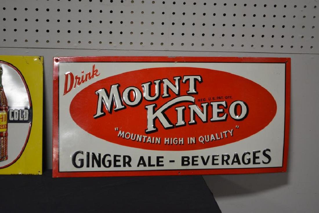 "3pc. Sign Lot B-1,  Mount Kineo,  Nehi 27 1/2""  x   7 - 3"