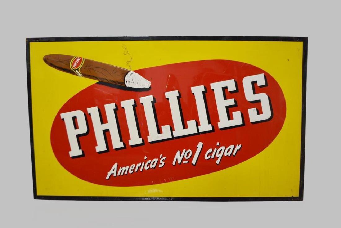 """Phillies Cigar Sign metal 35""""  x   58 3/4"""""""