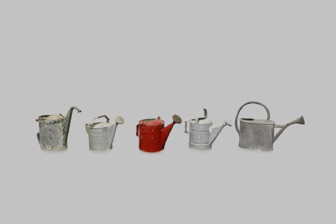 """5pc. Lot of Watering Cans 16 1/2""""H     /     13 1/2""""H"""
