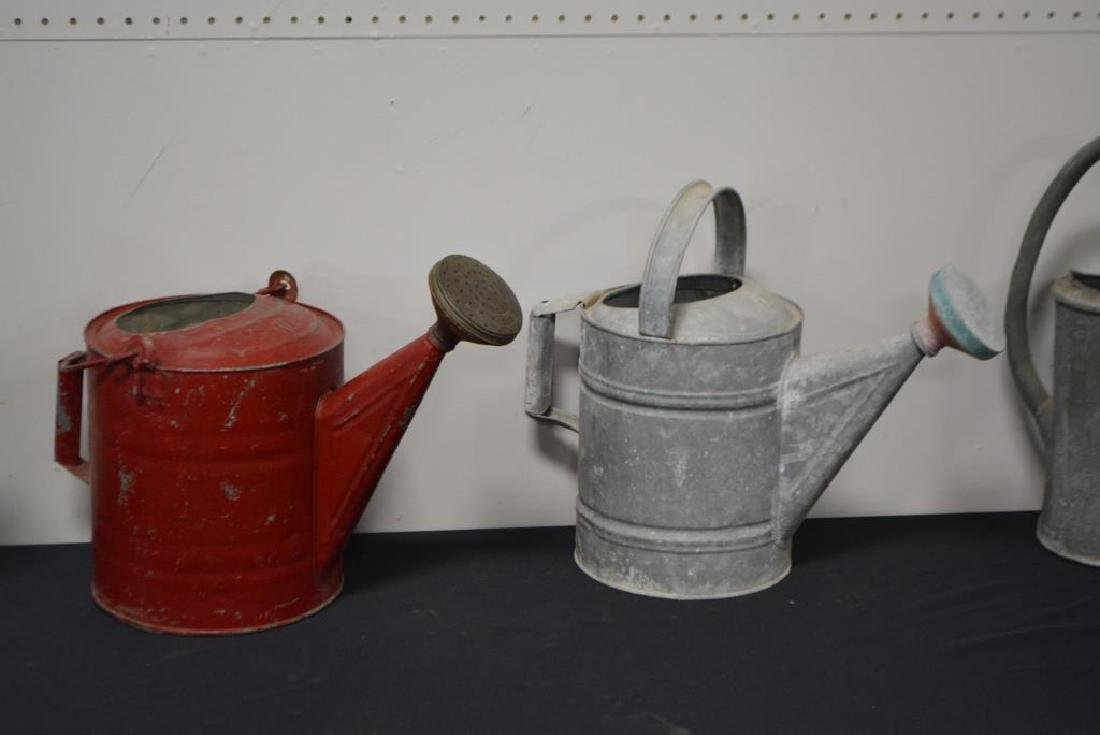 """5pc. Lot of Watering Cans 16 1/2""""H     /     13 1/2""""H - 3"""