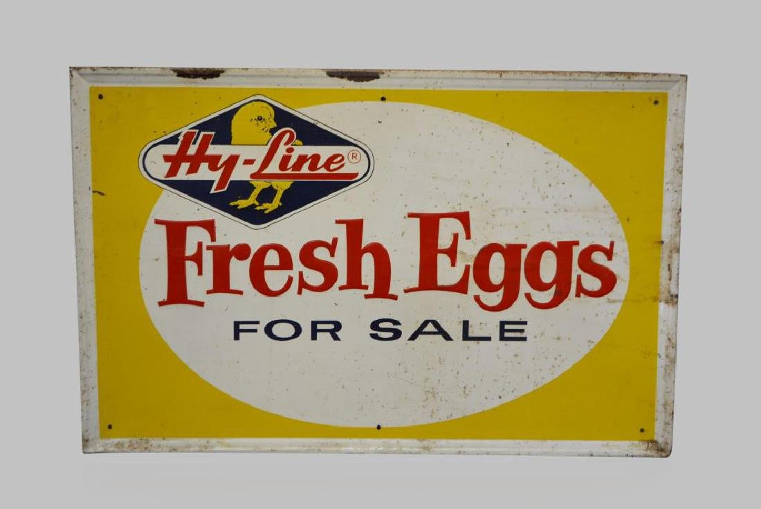 "Fresh Eggs Sign metal 22 1/2""  x   34 3/4"""