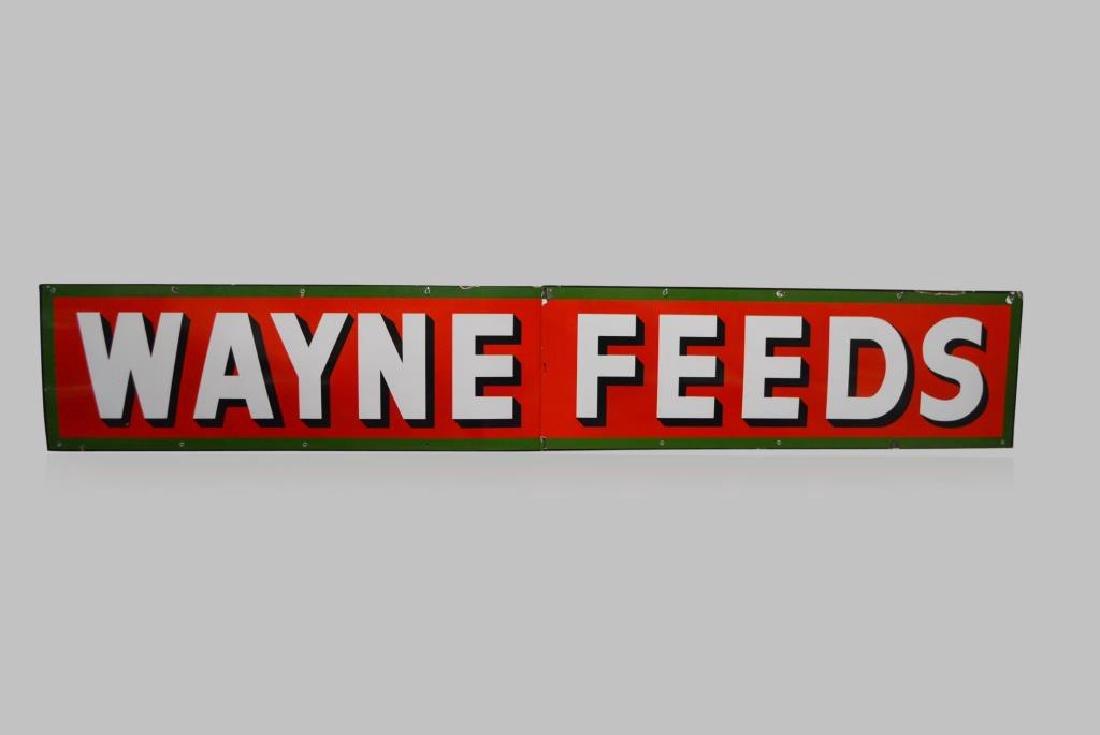 Wayne Feeds Sign porcelain 24\