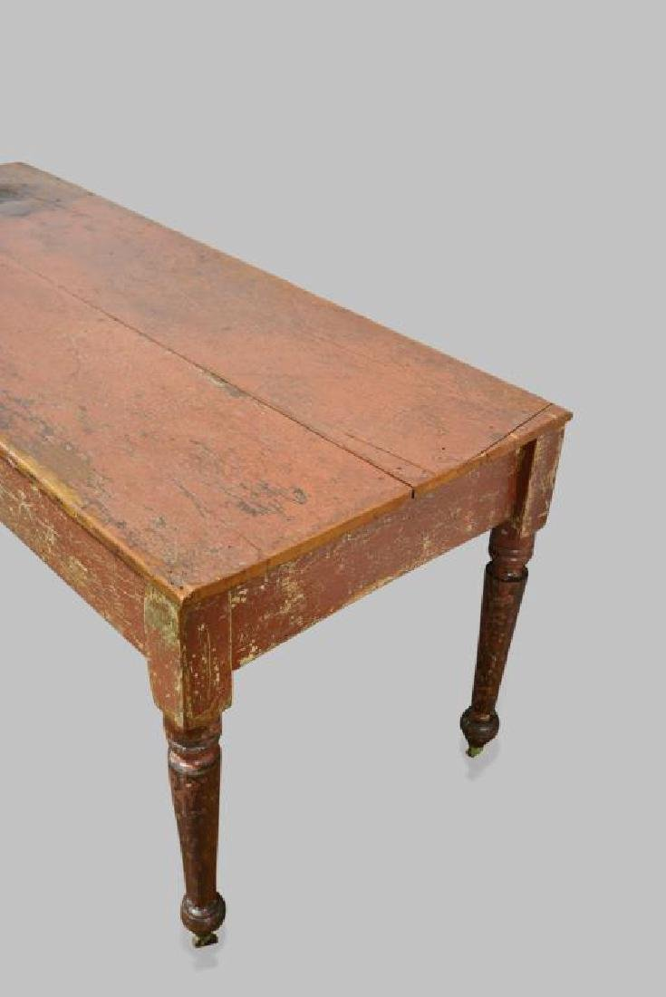 """Pa. Painted Work Table 30 1/2""""H,   68 1/2""""L,   28 1/2""""W - 2"""