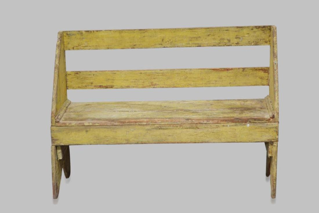 "Painted Amish Bench 34""H,   46""L,   13 1/2""W"