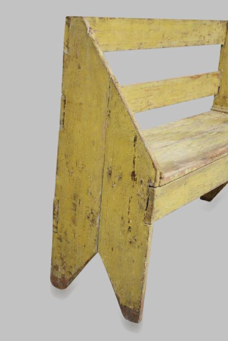 "Painted Amish Bench 34""H,   46""L,   13 1/2""W - 2"