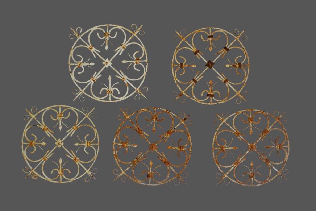 """Round French Iron Piece X5 23""""  x   24 1/2""""       ea."""