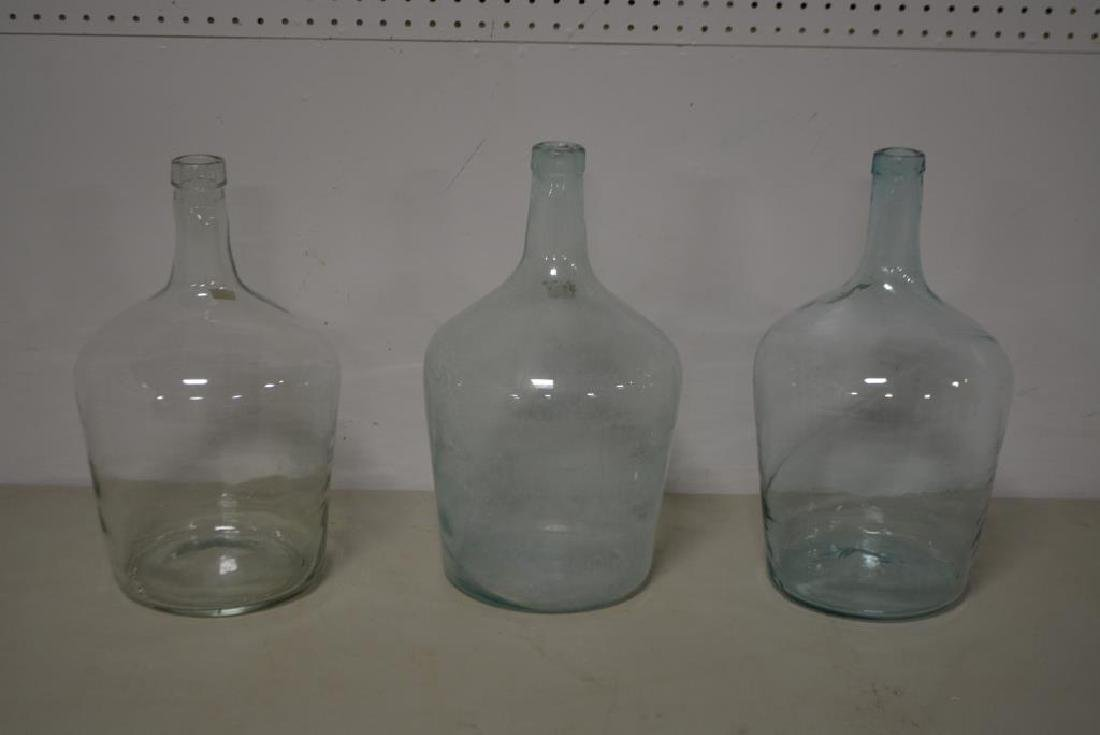 "Early Demijohn X3 16 1/2""H,   9 1/2"" diam.       / - 2"