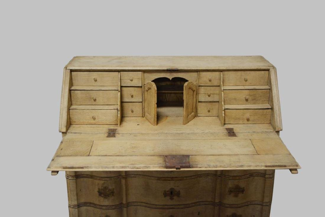 """19th Cen. Carved French Drop-front Desk 41""""H,   45""""L, - 2"""