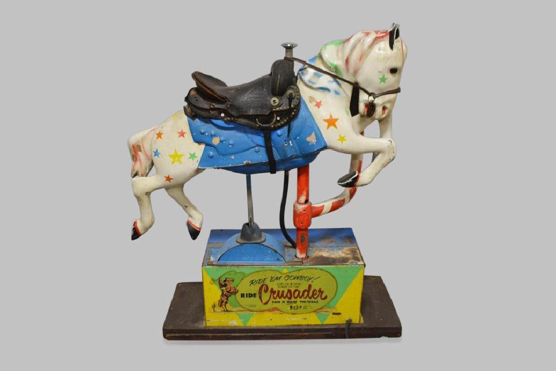 """Coin - Op Horse Ride 58""""H,   50""""L,   16 1/2""""(base)"""