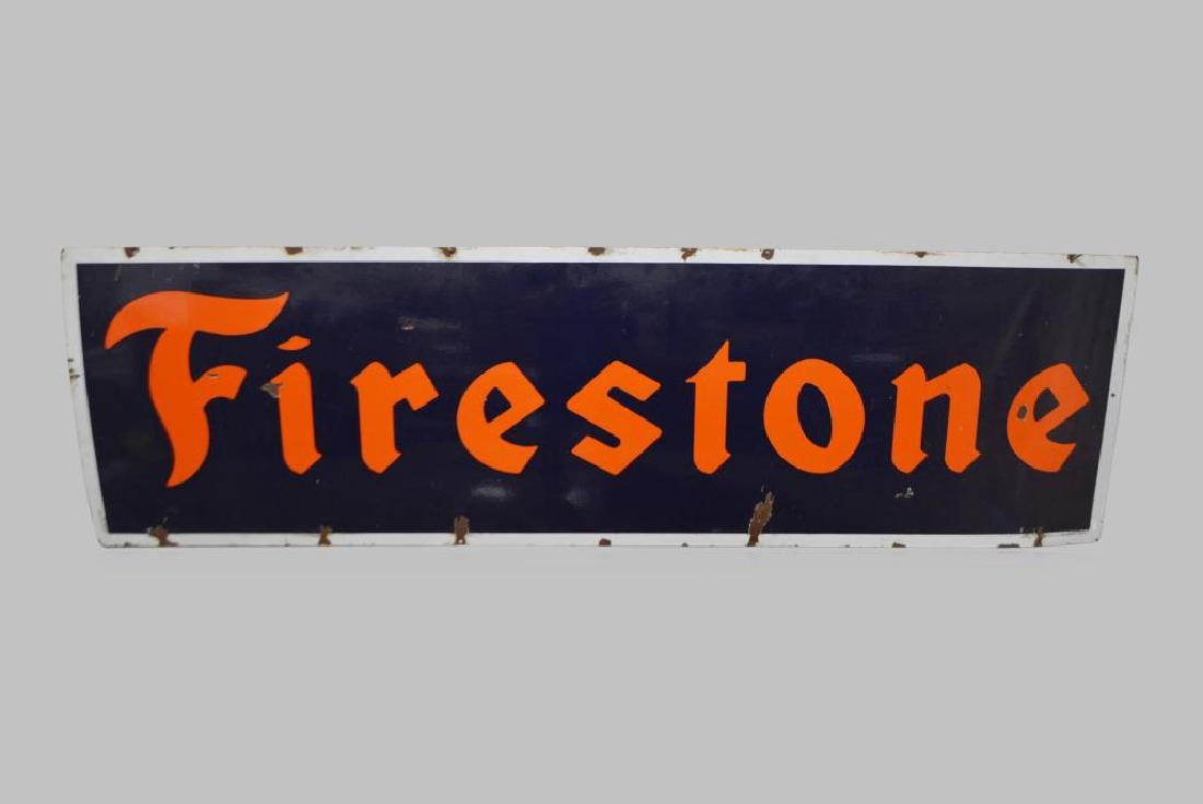 "Firestone Sign porcelain 21""  x   72"""