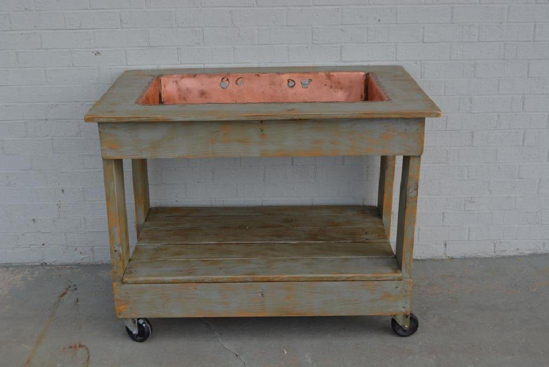 "Farmhouse Copper Sink 35 1/2""H,   45""L,   29""W"